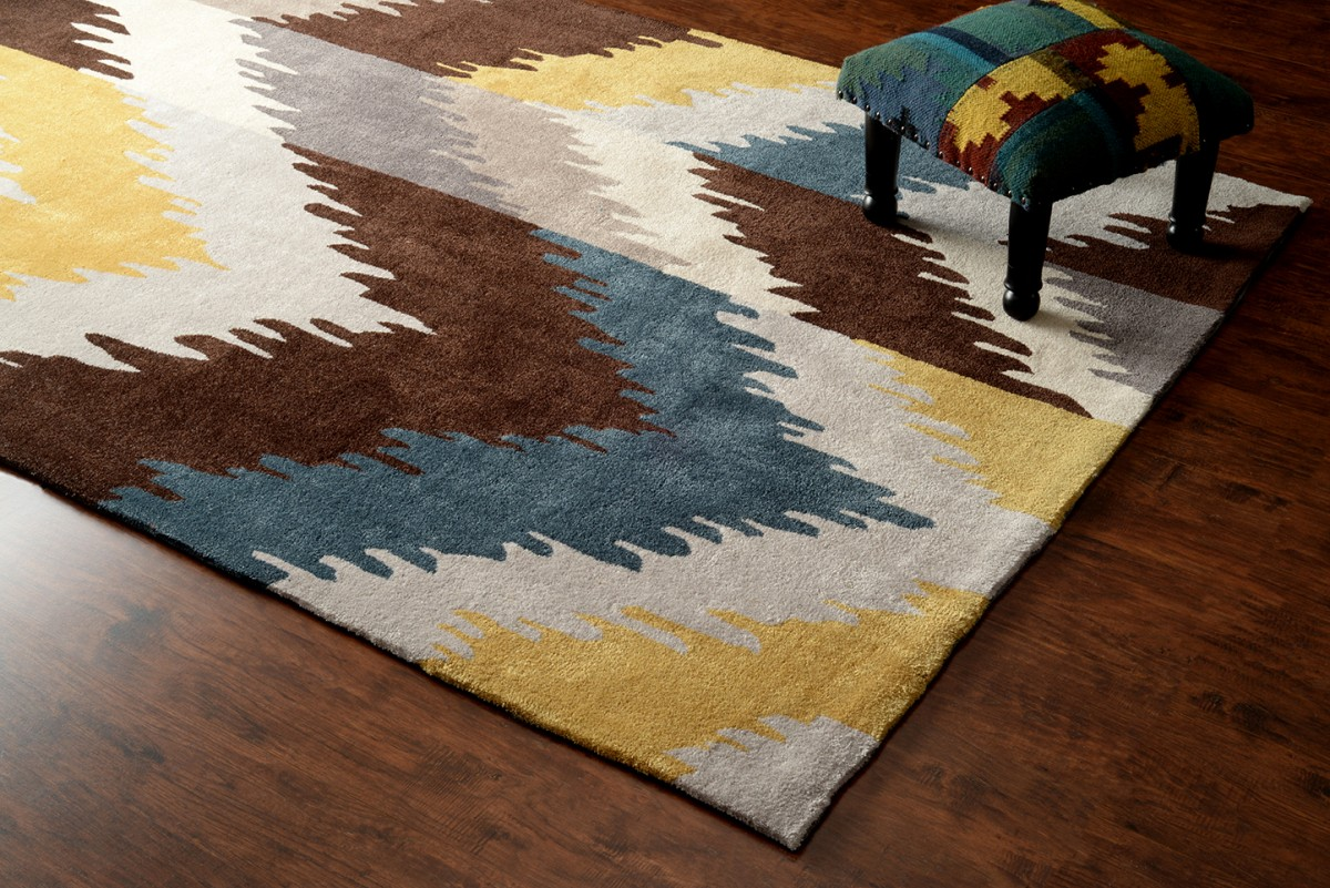 new gold ikat acr211 area rug carpets hand tuft
