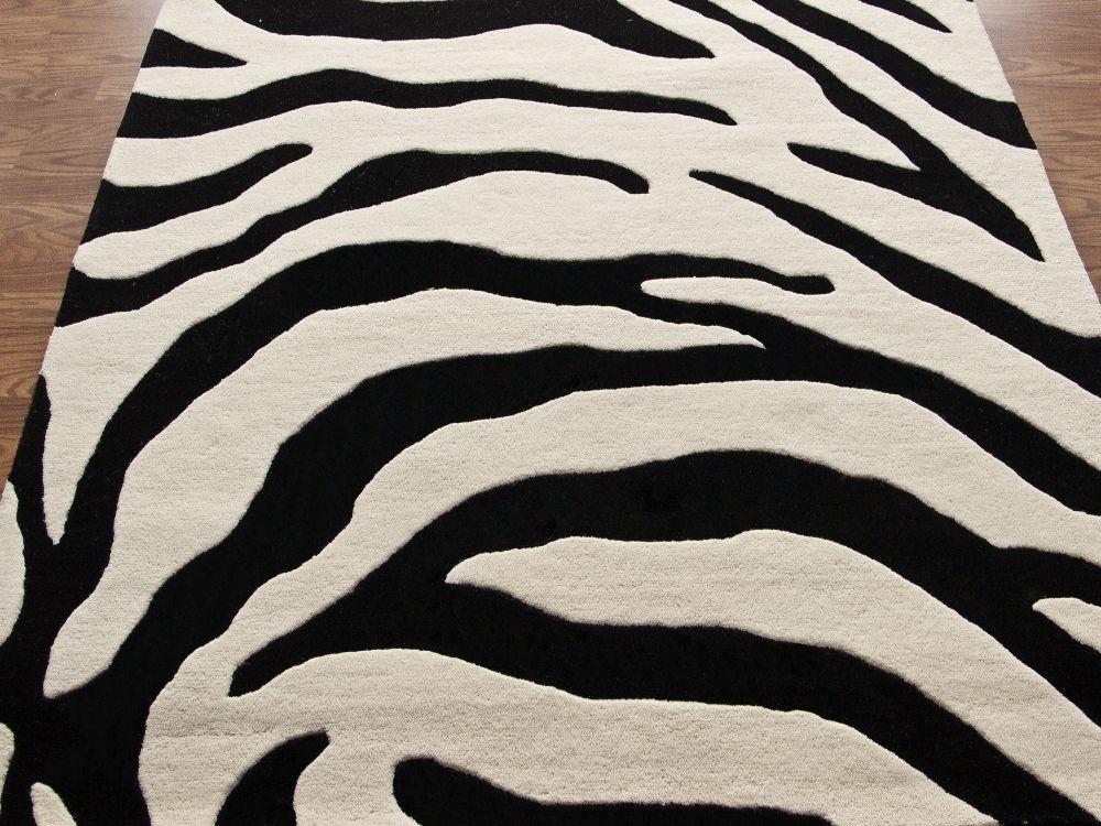 Tiger Prints Modern Contemporary Shag u0026 Flokati Hand Tufted Rug Carpet Wool