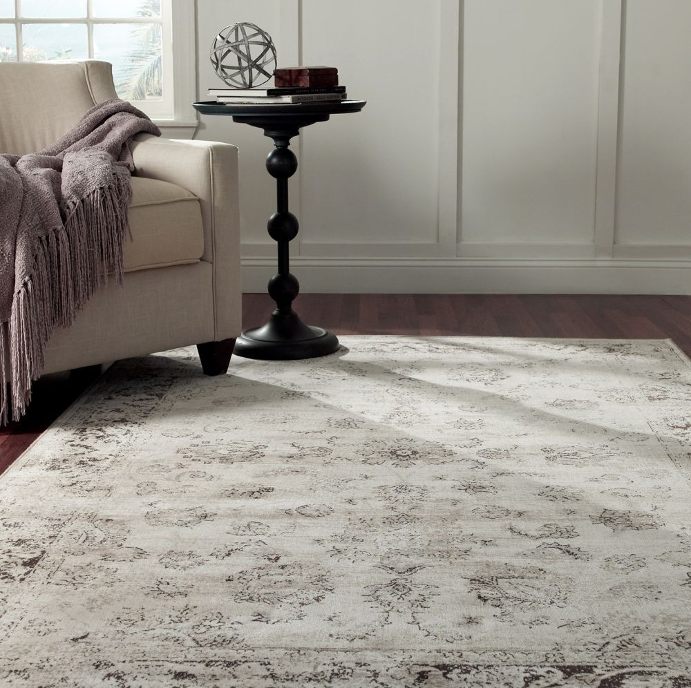 More Views New Traditional Ivory Adileh Area Rug Carpet Machine Made Viscose Durable