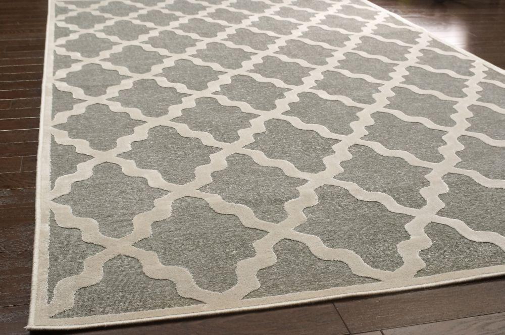Contemporary Trellis Vl06 Area Rug Carpet Light Dark Grey