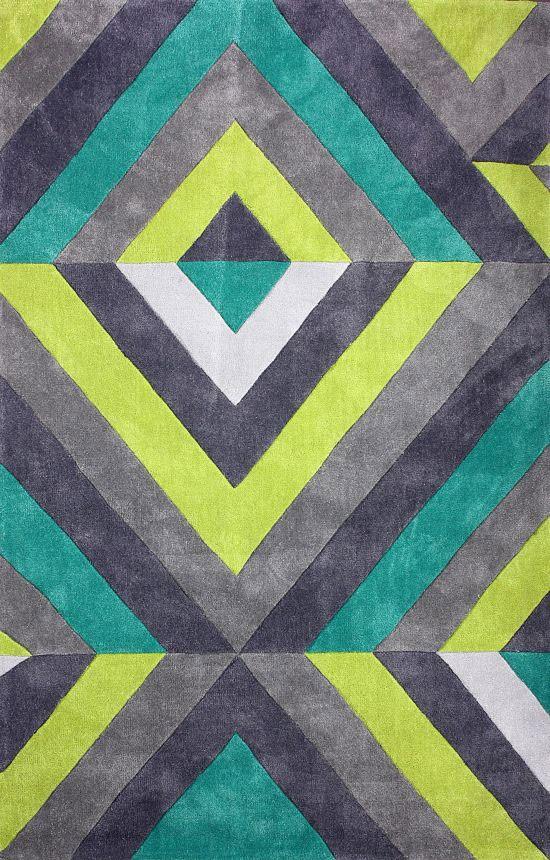 New Contemporary Blue Multi Acr170 Area Rug Carpet Hand