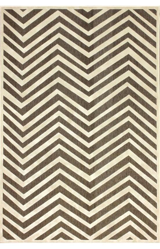 New Contemporary Brown Cream Chevron Vl02 Area Rug Carpet Machine Woven Viscose