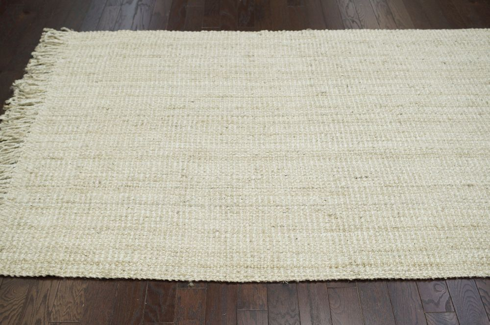 Natural Fibers Bleached Chunky Loop Area Rug Carpet