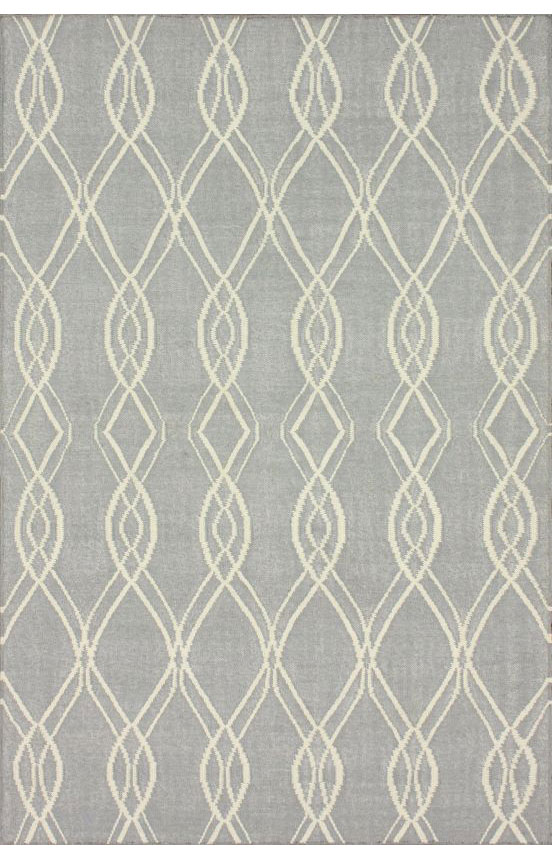 New Modern Contemporary Grey Ivory Pink Teal Flatweave