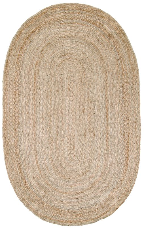 Casuals Natural Fibers Oval Natural Jute Braided Area Rug