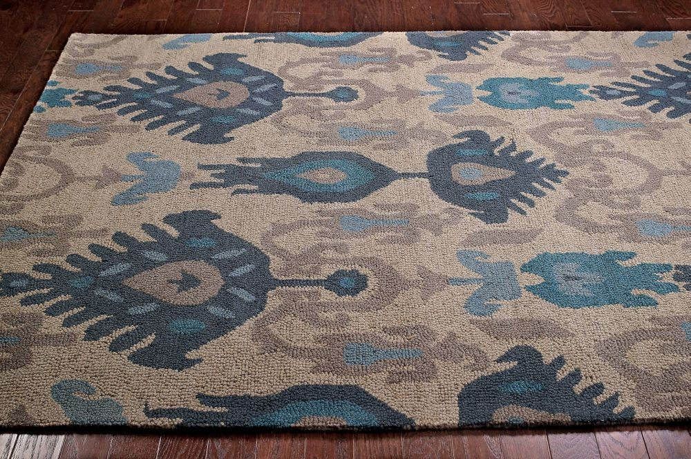 Blue Ikat Area Rug Designs